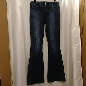 5🌸35 Twentyone Black Rue 21 Bell jeans sz 3/4